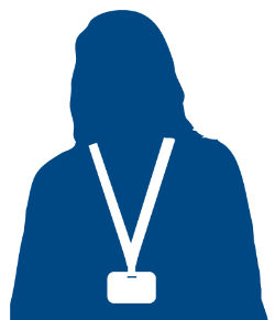 female volunteer silhouette