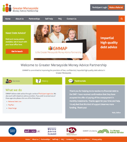 Greater Merseyside Money Advice Project Website