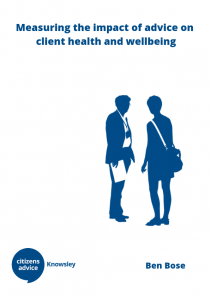 Cover of Health and Wellbeing report