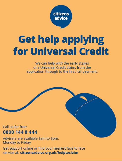Poster advertising the Help to Claim service